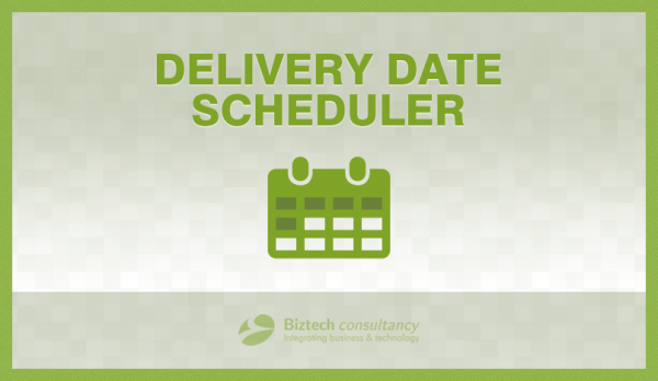 Delivery Date Scheduler: Manage Delivery Slots as per Your Convenience