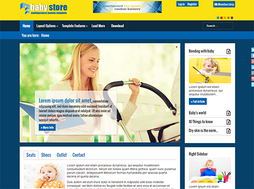 Babystore - Free Joomla Template