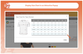SIZE CHARTS for Magento 2