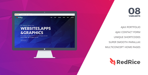 RedRice - Joomla One-Page Multipurpose Theme