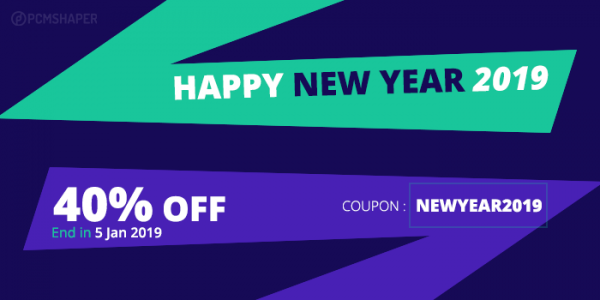 New Year Sales 2019 Discount Coupon