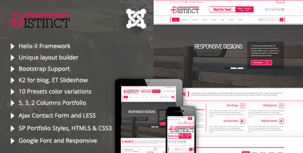 Distinct - Responsive Business Joomla 3.5 Template