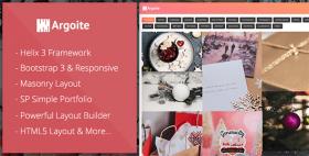 Argoite - Free Joomla Portfolio template