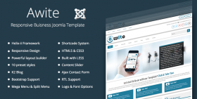 Awite - Responsive Business Joomla 3.4 Template