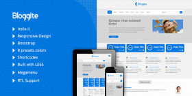 Bloggite - Responsive Business Joomla 2.5 & 3 Template