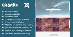 Effortite - Creative Joomla Mobile Template