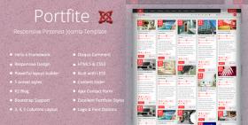 Portfite - Responsive Pinterest Portfolio Joomla 3 Template