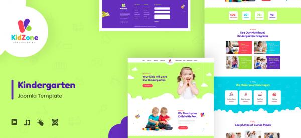JD KidZone - Kindergarten & Pre-school Joomla Template