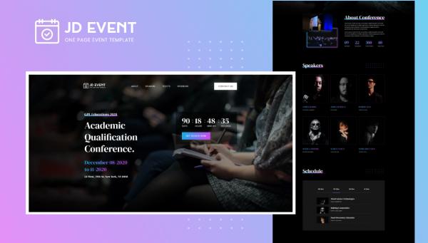 JD Event - Responsive Event Website Joomla Template