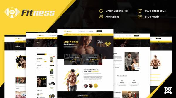JD Fitness- Best Joomla Gym Fitness Template