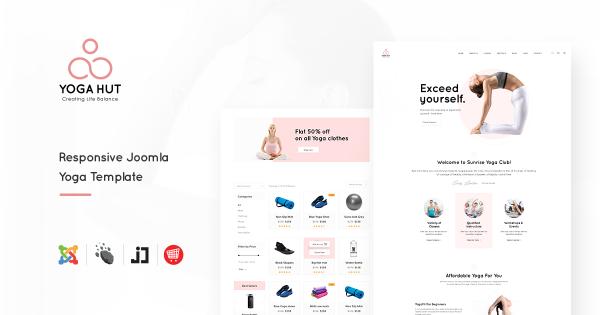 JD YogaHut - Responsive Joomla Yoga Template With Online Shop