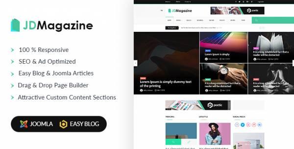 JD Magazine - Best Magazine Joomla Template