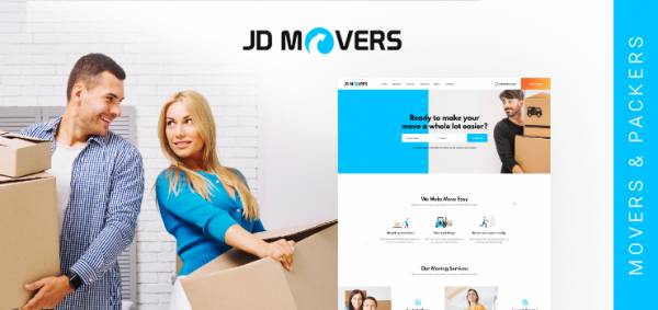 JD Movers – Joomla Template for Packers and Movers