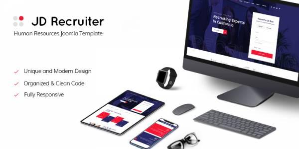 JD Recruiter - HR Recruiting & Staffing Agency Joomla Template