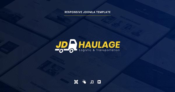 JD Haulage - Logistic & Transportation Services Joomla Template