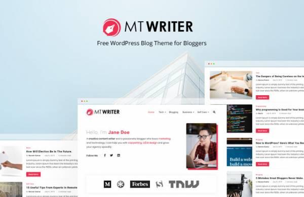 MT Writer - Free WordPress Blog Theme