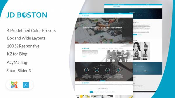 JD Boston – Creative Multipurpose Joomla Template