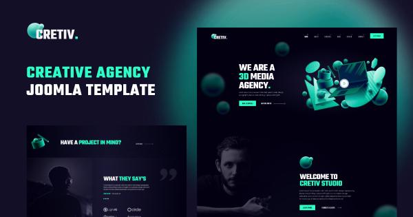 JD Cretiv - Creative Agency Joomla Template