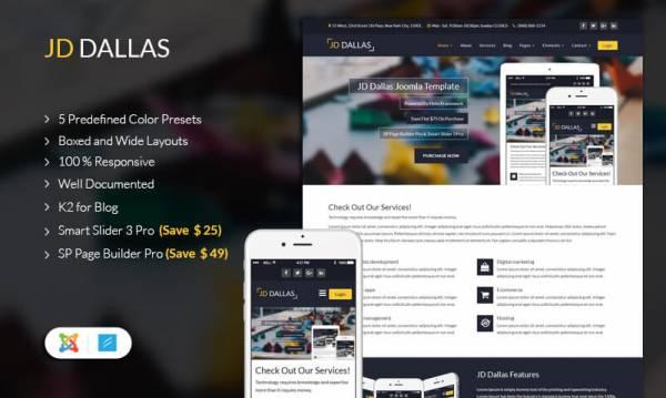 JD Dallas - Responsive Business Joomla 3.8 Template