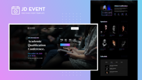 JD Event - Responsive Event Website Joomla Template