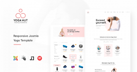 JD YogaHut - Responsive Joomla Yoga Template With Online Shop