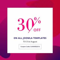The Biggest Sale of the Season - Get 30% Off on all Joomla Templates