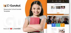 JD Gurukul - Responsive Joomla Template For School Websites