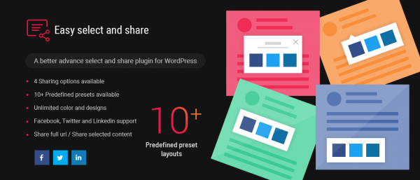 Easy Select and Share WordPress Plugin