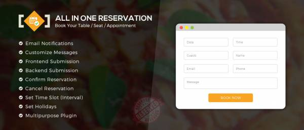 All in One Reservation WordPress Plugin
