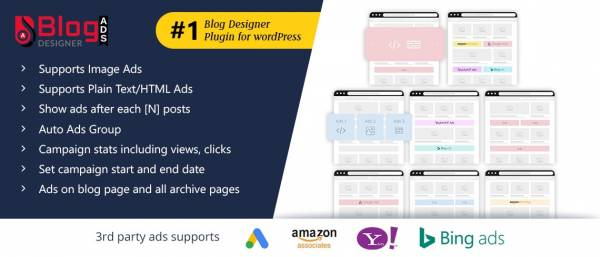 Blog Designer Ads WordPress Plugin