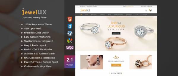 JewelUX –  Jewelry WordPress Theme