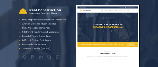 Real Construction – Construction WordPress Theme