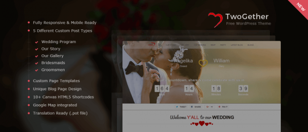 TwoGether – Wedding WordPress Theme