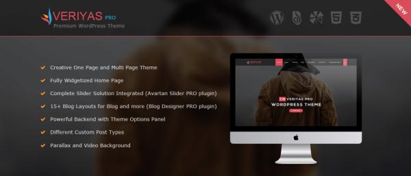 Veriyas Pro - WordPress Corporate Theme