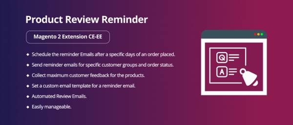 Product Review Reminder Magento 2 Extension