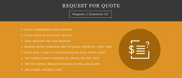 Request for Quote Magento 2 Extension