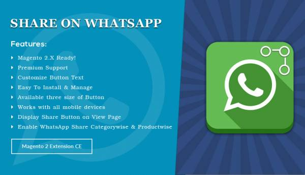 Share on WhatsApp – Magento 2 Extension