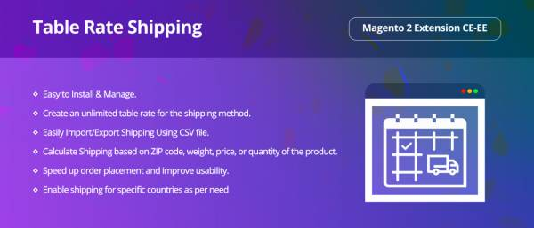Table Rate Shipping Magento 2 Extension