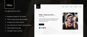 Mine - Free WordPress Blog Theme