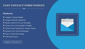 Easy Contact Form Widget –  Magento 2 Extension
