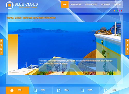 BlueCloud - Free Joomla Template