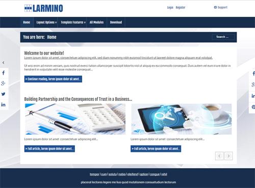 Larmino - Joomla! Template