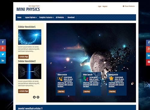 Miniphysics - Joomla! Template