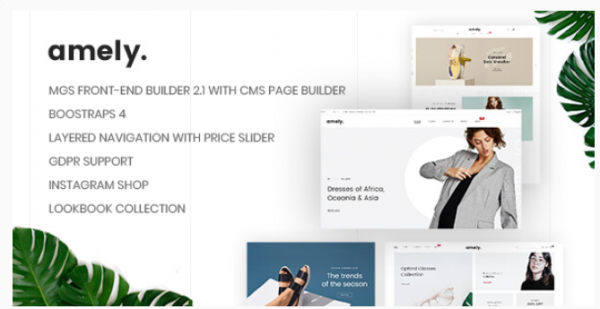 Amely - Clean & Modern Magento 2 Theme