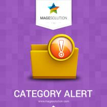 Magento Category Alert