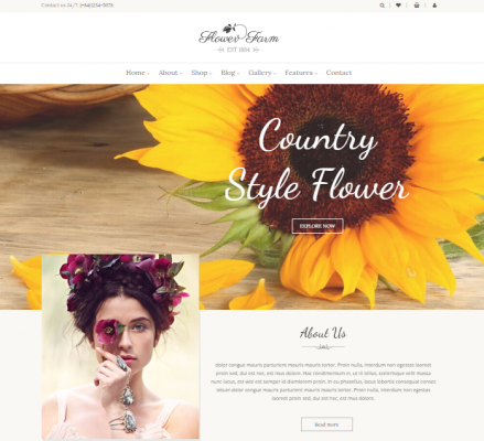 Selling flower from your organic farm with FOOD FARM wordpress theme
