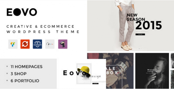 Creative & eCommerce WordPress Theme - EOVO