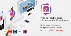 Elegant WooCommerce WordPress Theme - FRANCO