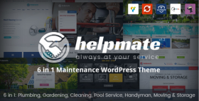 One more wordpress theme for your garden come from HELPMATE