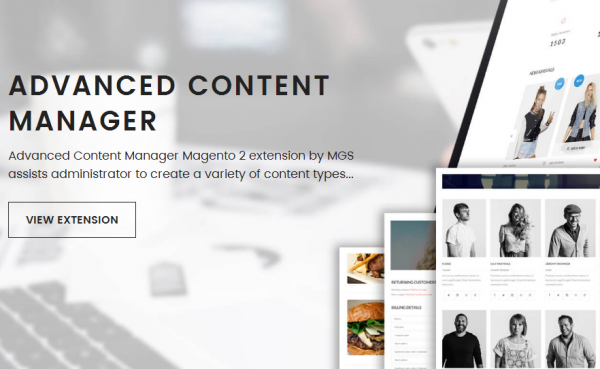 Advanced Content Manager 2: CMS extension for Magento 2